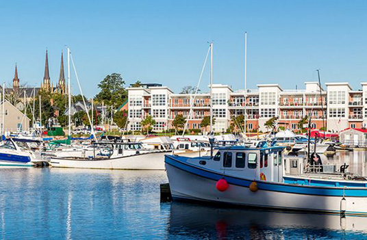 Contact East 2019 Host City: Charlottetown, PE | Boats at the quay